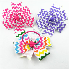 Bright colored sequin hair ties