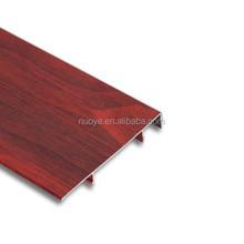OAK,Maple, hundreds of wood colors aluminum skirting baords/wooden skriting base board