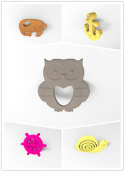 FDA spiky silicone rubber beads pendant with food grade