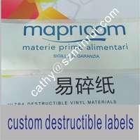 Sale Label Printing Machine Roll Sticker ,vinyl Eggshell Sicker,Frabgile and Brittle Label Stickers