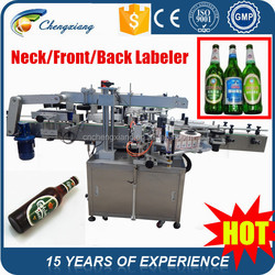 Automatic bottle labeling machine body neck beer