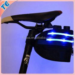 Hot sale Newest design LED light waterproof bag bike saddle wheel bag