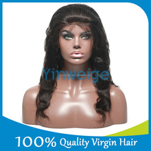 Luvin hair Body Wave Natural wholesale human hair grey lace front wig