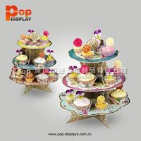 Wholesale 3 tier cardboard cupcake stand