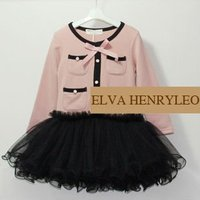 2014 Spring new Long sleeve bow knot lace girls frocks designs,fashion ribbon girls' dress