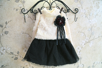 Kids Winter Clothing Sale 2015 Frock Design For Baby Girl Black And White Flower Girl Dresses