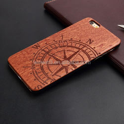 Wholesales Creative Cell Phone Case For Iphone 6 plus Laser carving cherry wood phone shell