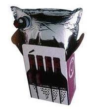 Bib box for red wine