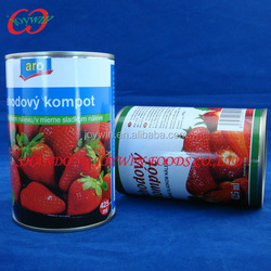 Health food, Canned strawberry in light syrup, cheap canned fruits supplier