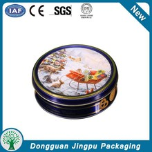 Round Cookie Tin Box/Tin Container For Cookie/Candy/buscit