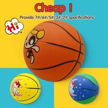 custom logo print custom outdoor rubber basketball for promotion