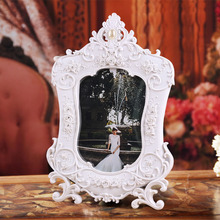 "Factory Direct Sell latest design of photo frame decoration wedding baby college polyresin white photo frame supplies 4"" x 6"""