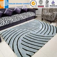 2015 modern design korean silk 3D carpet