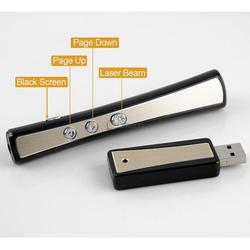 2.4 GHz RF USB Wireless Laser Pointer Presenter PowerPoint PPT Pen Remote Control Laser Pointer Pen, Sliver