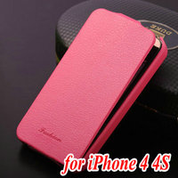 For Iphone 4 4S DIY your own high quality litchi style leather protection phone case for lovers couple
