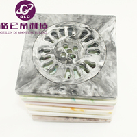 Fashion hot 15*15cm high quanlity resin floor drain abs /pp/pvc Bathroom Wetroom Square Shower Floor Drain Trap Waste Grate