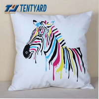 2015 hot sales wihte geometry printing elegant blue cushion,mordern style pillow,square softs decorative you home cushion