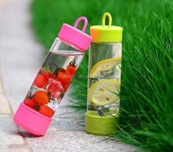 magic bottle with great suction BPA FREE Food grade glass tea infuser bottle/Tea filter water bottle/fruit juice glass bottle