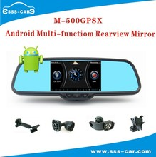 M-500GPSX Car gps navigation Android Bluetooth WIFI DVR auto dim rearview mirror, rear view mirror monitor with backup camera