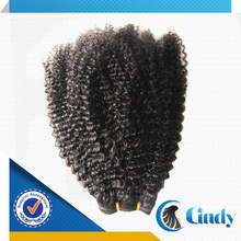 Qingdao factory direct wholesale natural black afro kinky cheap brazilian hair weave extentions for black women