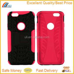 Antiskid tread phone case for iphone 6 kickstand case
