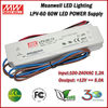 60W 12V 5A Indoor Use Meanwell LPV-60-5 Constant Voltage Waterproof LED Power Driver