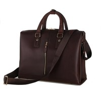 7214Q Fashion Full Grain Genuine Leather Handbags Men's Briefcases High-grade Cowhide Business Bag Online Shop China