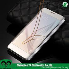 transparent view cell phone case for S6 edge +, for samsung galaxy s6 edge plus case