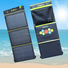 15 Watt Solar Panel Portable Solar Charger with Dual USB Ports for mobil phone