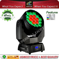 Versatile 19x15w RGBW 4in1 Zoom Beam Wash Moving Head LED Stage Light