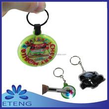 2015 Small promotional Reflective PVC LED keychain