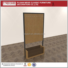 Clothes retail store wood belt display stand