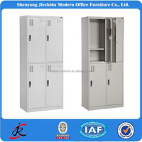 iron wardrobe modern high quality 4 door file storage metal steel office locker