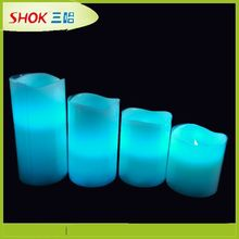 2015 Top selling colorful led flameless candle unbreakable