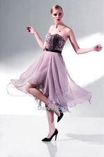 son elbise tasarımları straplez elbise asimetrik kahverengi abiye elbise anne gelin elbise şifon