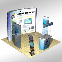 Complete Set Booth Design For 10x10 Standard Exhibition Booth