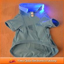 wholesale cheap 100% cotton pure color flashing led dog clothing