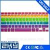 Waterproof High Quality Universal Rainbow Keyboard Sticker Color Keyboard Protector, Custom Silicone Keyboard Cover for Macbook
