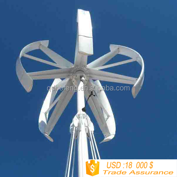 Wind Turbine For Sale 10kw/maglev Vertical Wind Generator/vawt,10kw ...