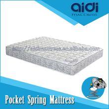 Slow Rebonded Memory Foam Bamboo Pillow Top Pocket Spring Bed Mattress AL-1103