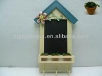 Black Board Wall Shelf Chalkboard Country Coat Hook with Message Board