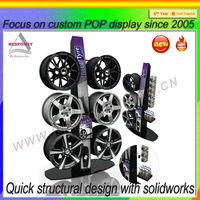 Metal alloy wheel display stands