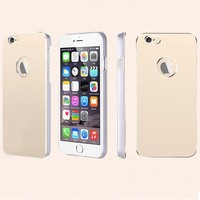 Slim Luxury Brushed Metal Aluminum Shell PC Back Cover Case For iPhone 6 plus 5.5 inch