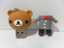 Novelty bulk items bride and groom bear design usb flash drive