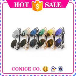 wholesale sunglasses china Fashion Round Shape Metal Sunglasses designer replica sunglasses woman sun glasses