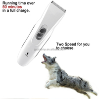 Excellent Quality Best Price Two Speed Rechargeable Electric Professional Hair Trimmer Pet Dogs Grooming Clipper Fit For Clean