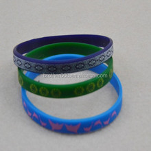 custom beautiful silicone printing bracelet,1/8inch,Thin Silicone Wristbands, Rubber Bracelets, promotional Favors