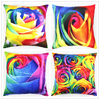 Decorative Fabric Painting Rose Design Custom Photo Print Large Cushion Cover Pillow Case HT-PPSDPC-B-21-24