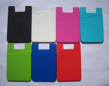 3M sticky silicone mobile phone card holder wallet