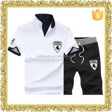 Low price organic cotton solid color designer mens clothing